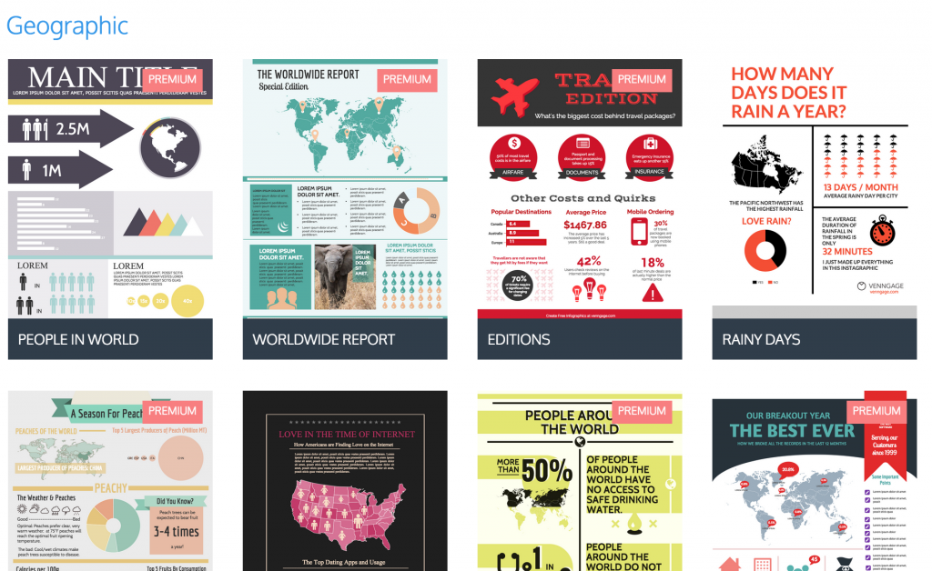 Infographic template comparison