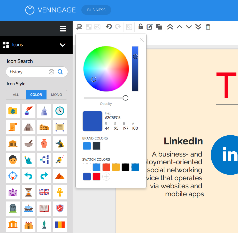 Infographic creator software