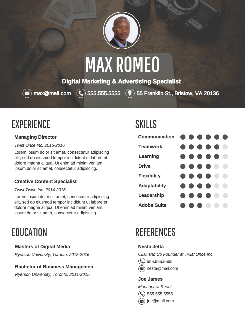 infographic resume template - Infographic Resume Templates