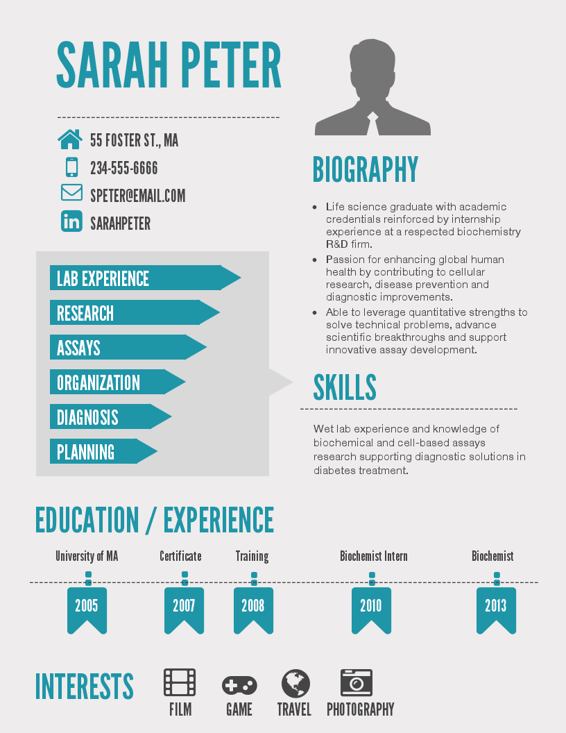 Exceptional Infographic Resume Templates