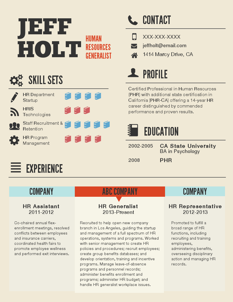 Image Result For How To Make An Infographic Resume