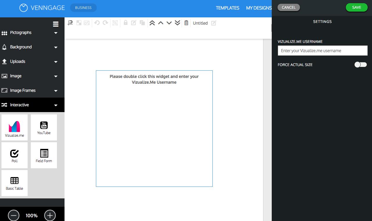 download vizualize profile using venngage
