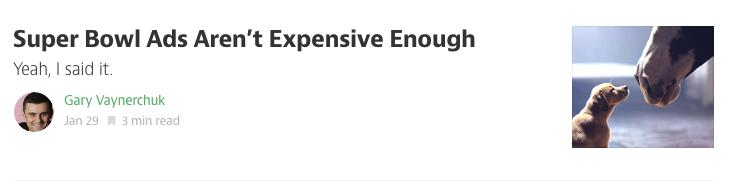 Los anuncios del Superbowl no son lo suficientemente caros
