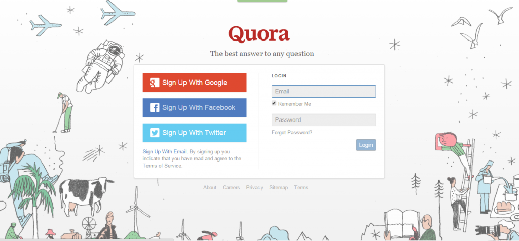 Quora Question and answer blogging platform for students