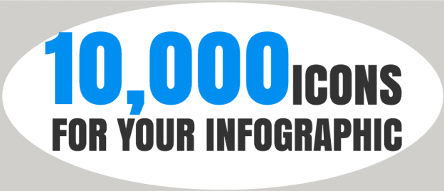 10,000 Icons Infographic