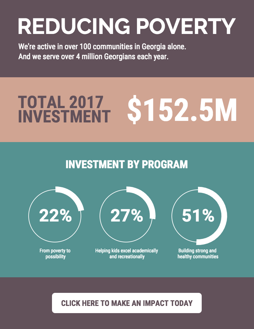 nonprofit infographic template