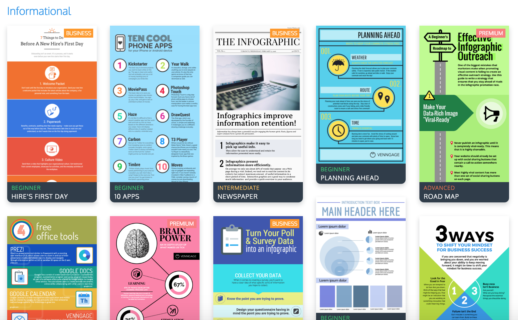 The top 9 infographic template types venngage for Informative poster template