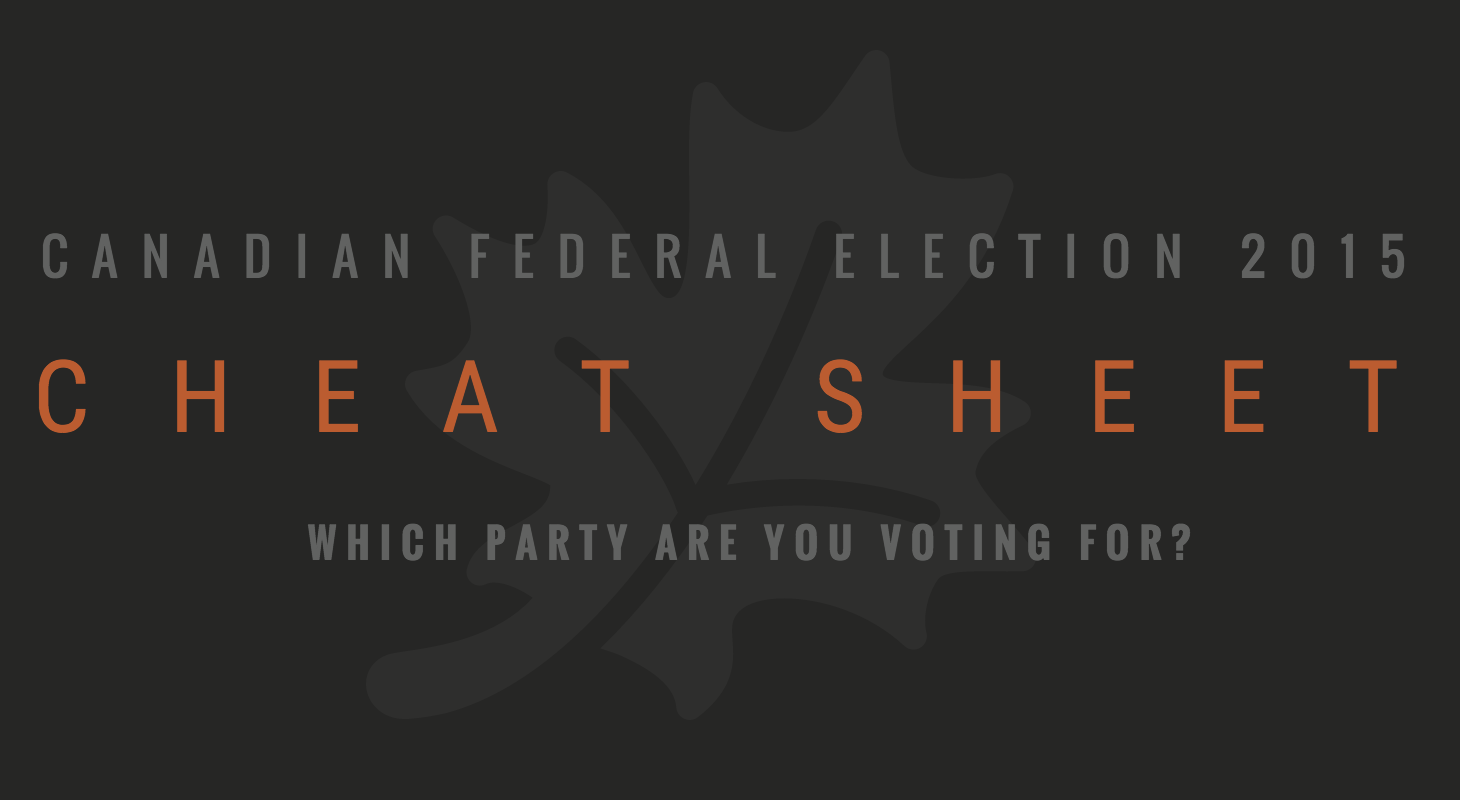 canadian federal election 2015 cheat sheet  infographic