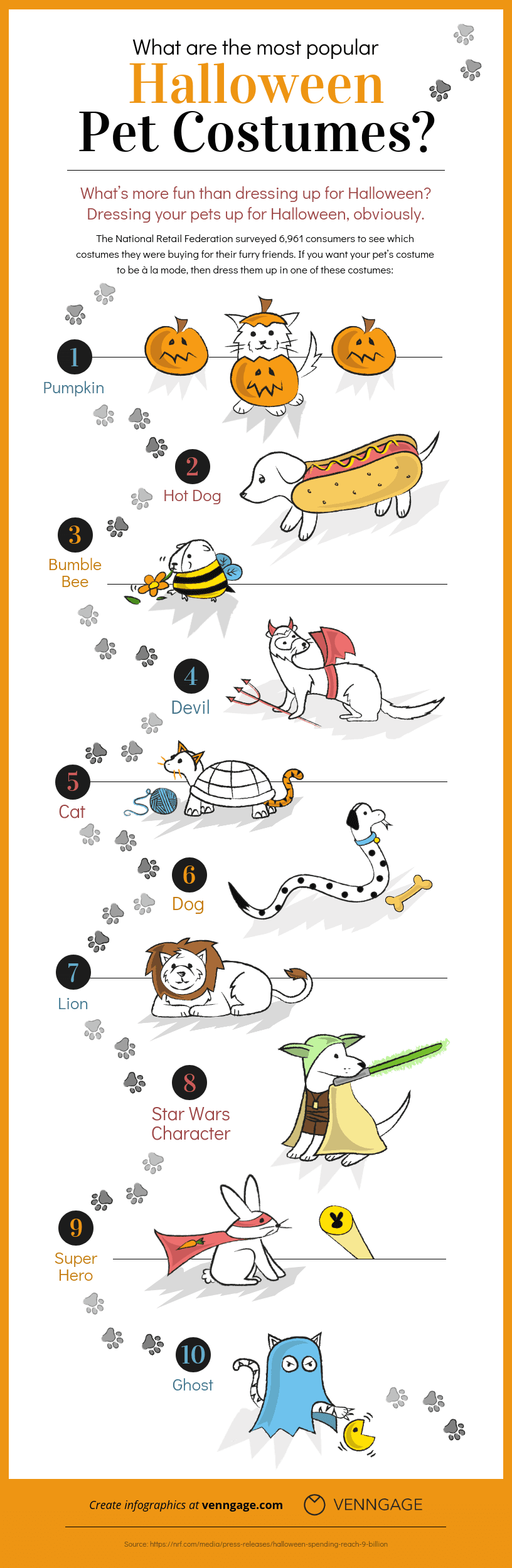 pet costume halloween infographic