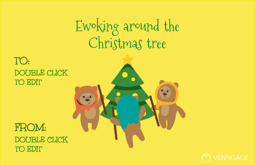 Ewoks Infographic Template Star Wars