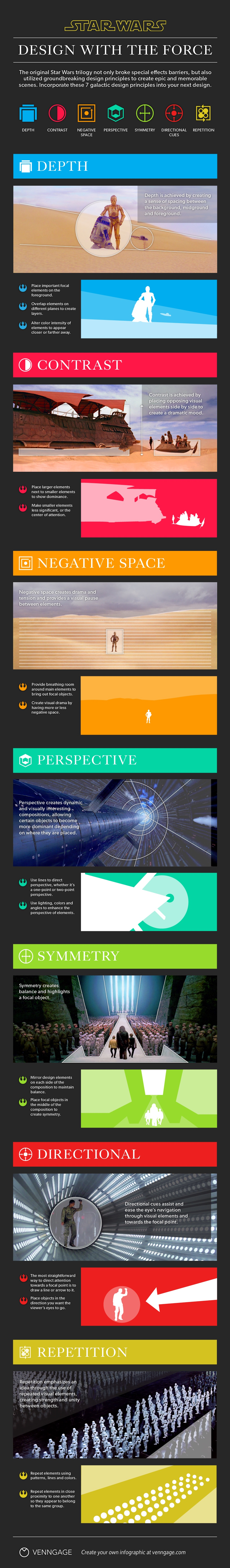 [Infographic] Design with the Force - 7 Star Wars Design Principles