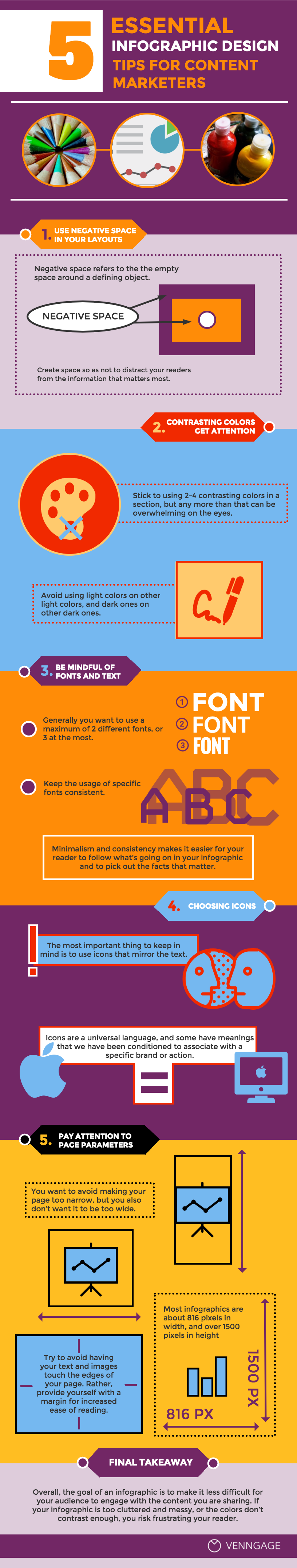 Infographic: 5 Essential Infographic Design Tips For Content Marketers   Venngage