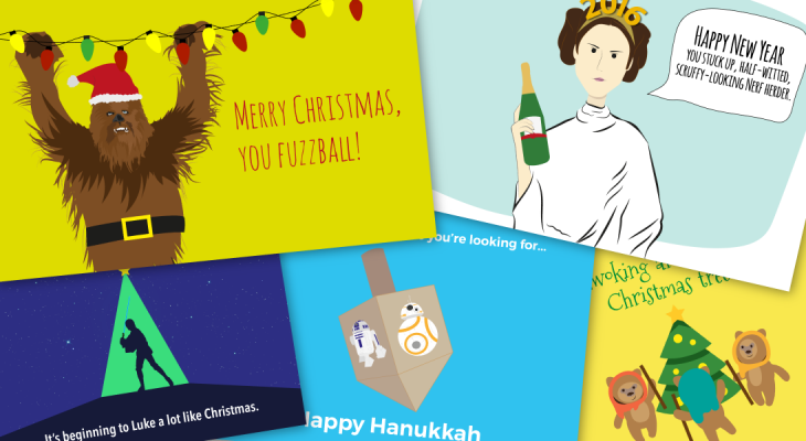 Star Wars ecard gift infographic