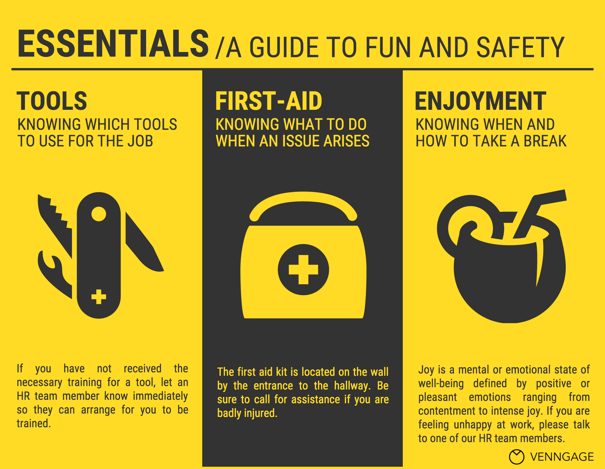 workplace safety program template - 5 hr poster templates for a happy business infographic