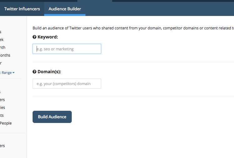 audience builder