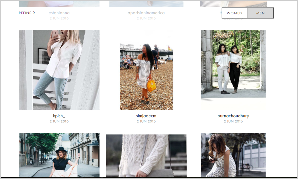 ASOS clothes social proof