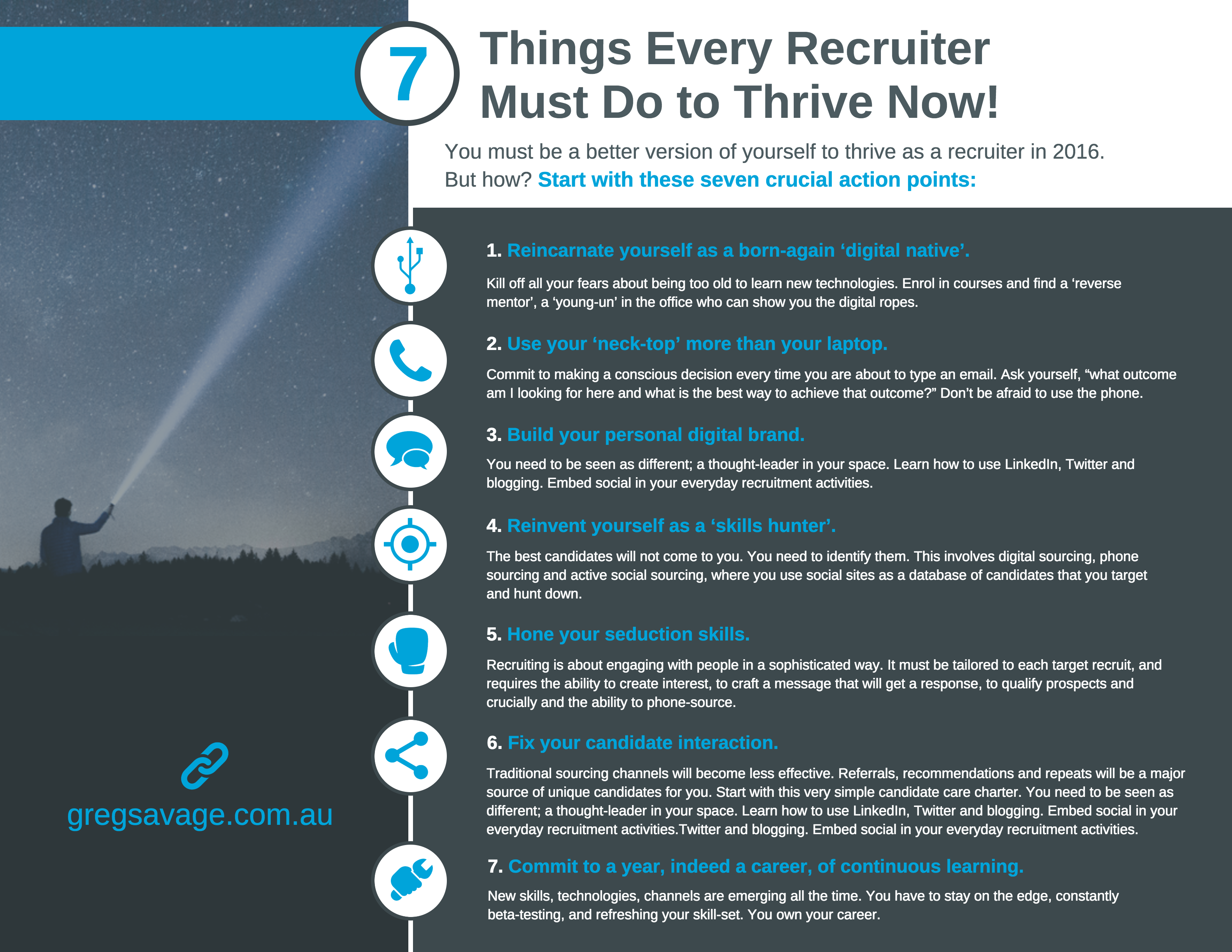 7 things every recruiter must do in 2016 greg savage the owner manager masterclass