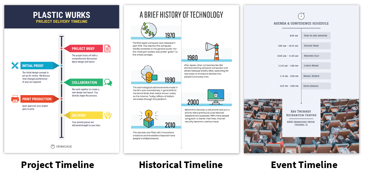 how to create a timeline infographic in 6 easy steps venngage