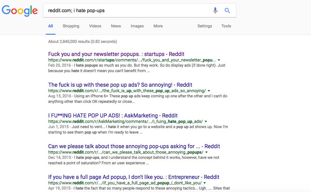 reddit hate popups