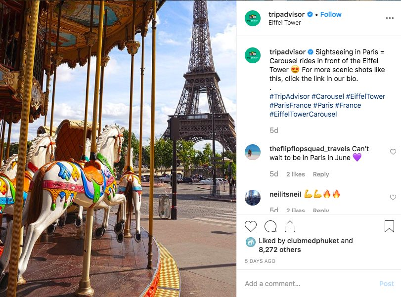 TripAdvisor Instagram Paris