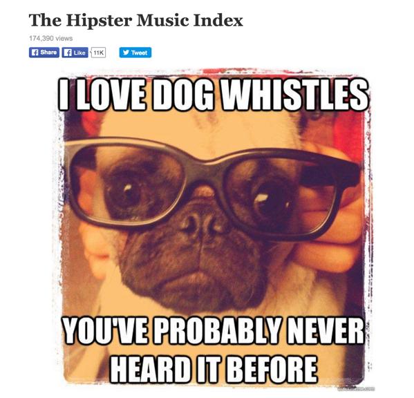 Infographics: Hipster Pug