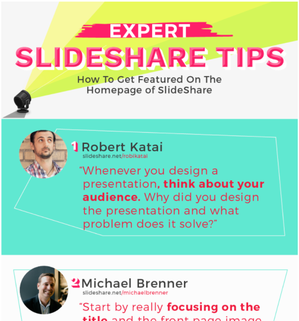 Infographics: SlieShare Tips