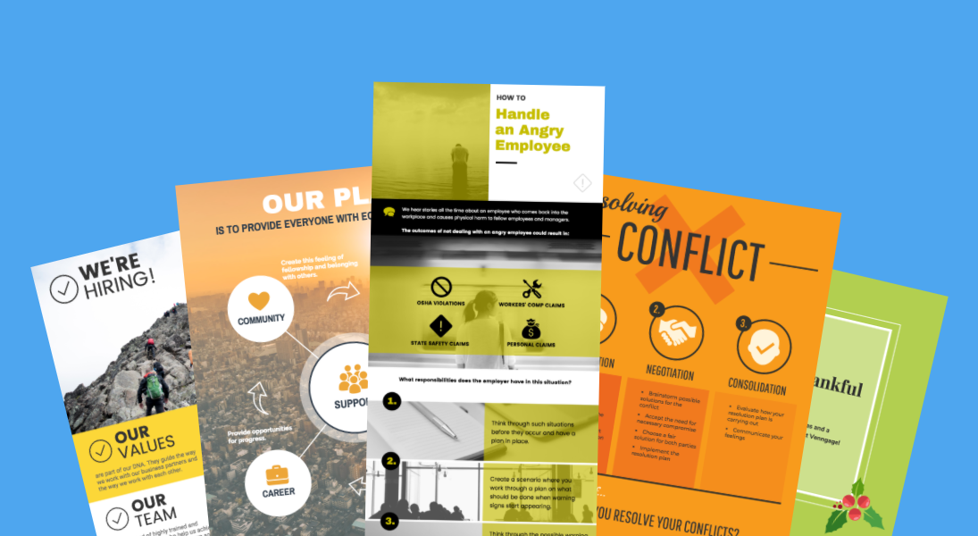 5 hr poster templates for a happy business infographic human resources poster templates flashek Image collections
