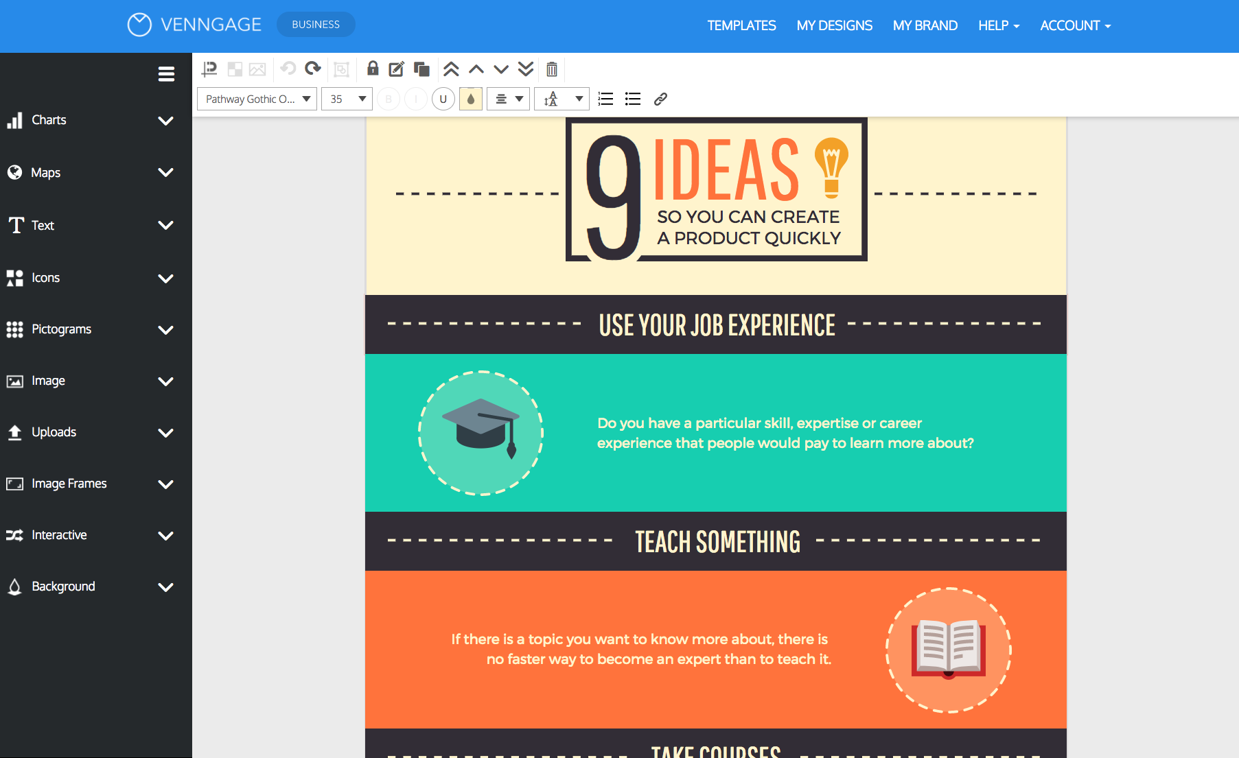 Design Process Infographic - Venngage