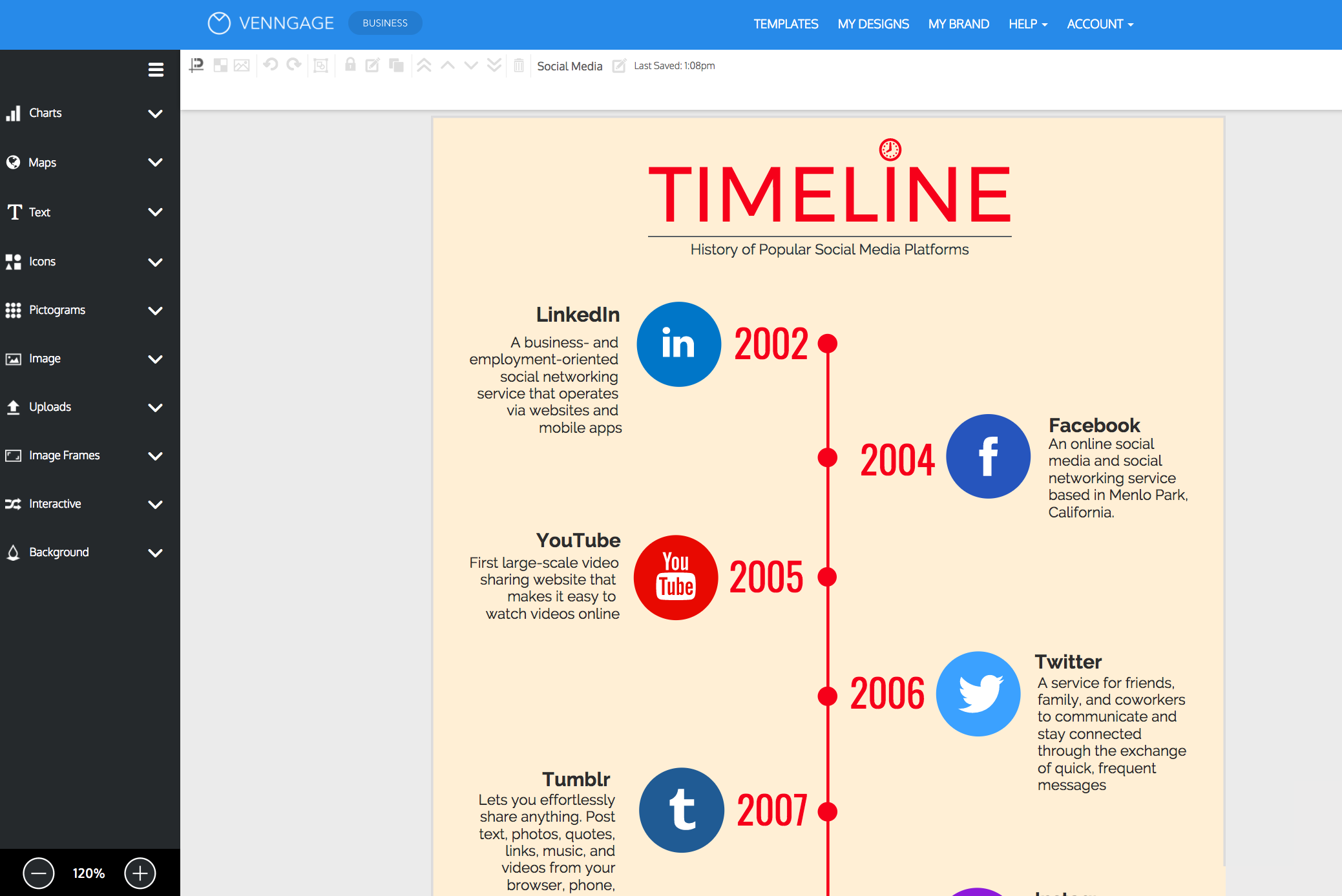 create your timeline infographic venngage