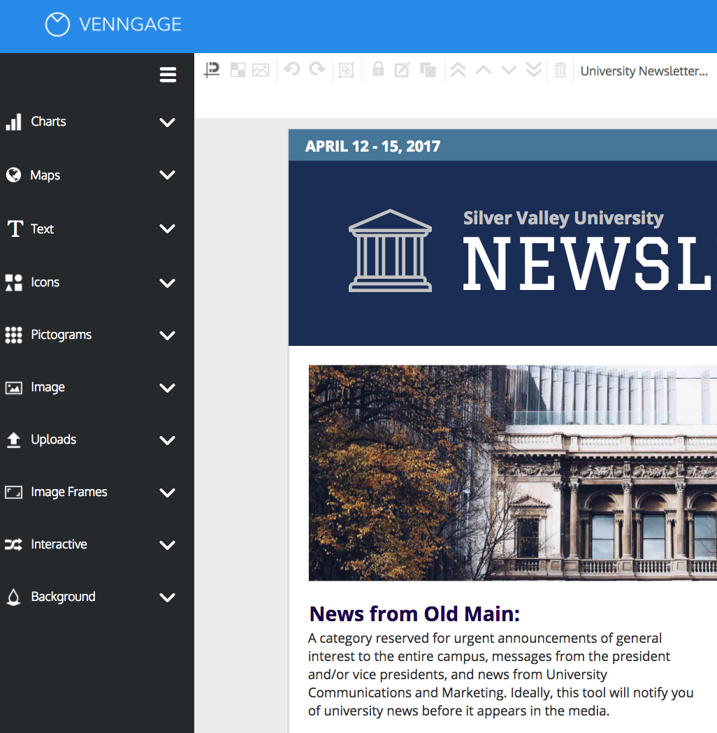 online newsletter creator design your own newsletter with venngage