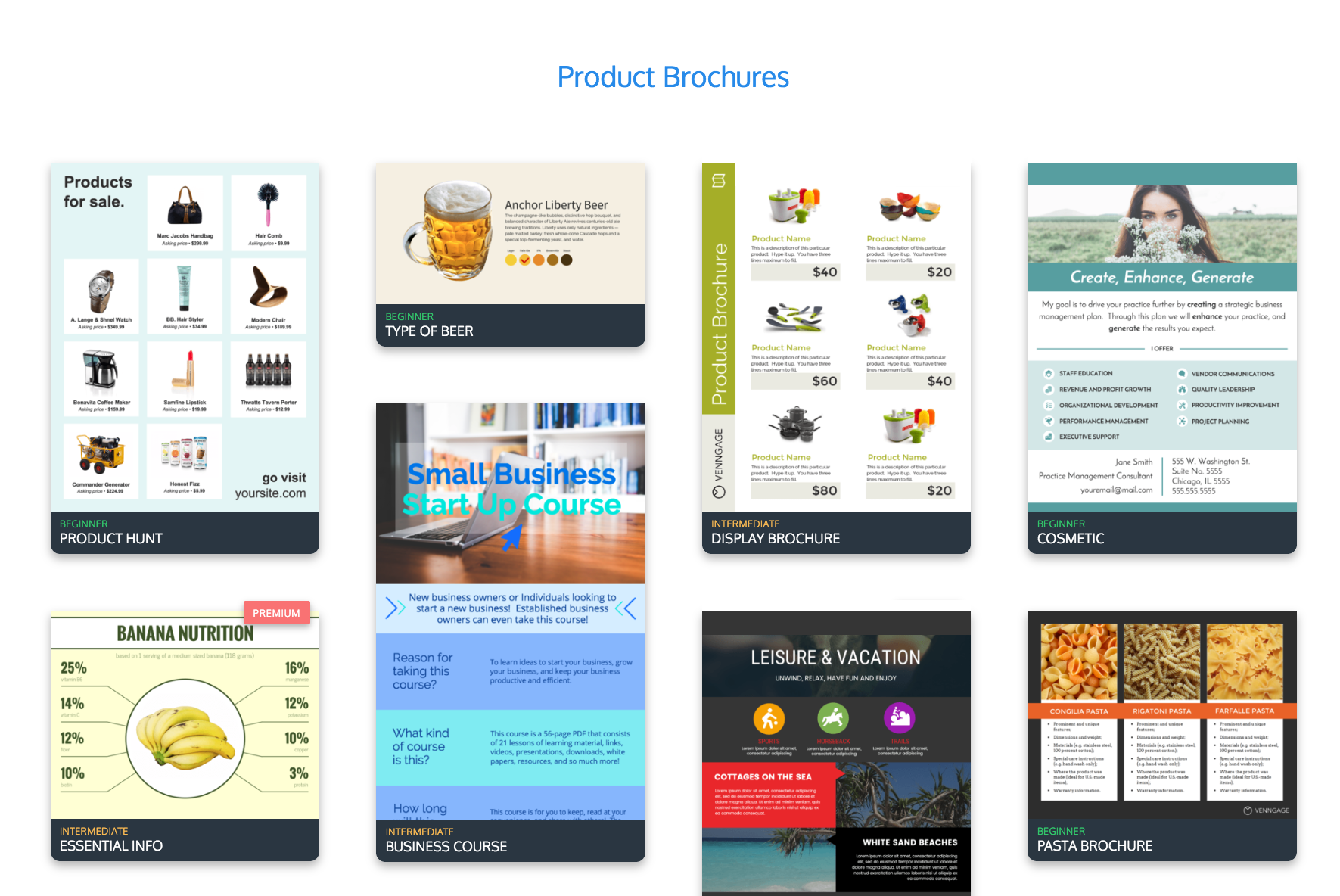 Online Brochure Maker - Make Your Own Brochure With Venngage