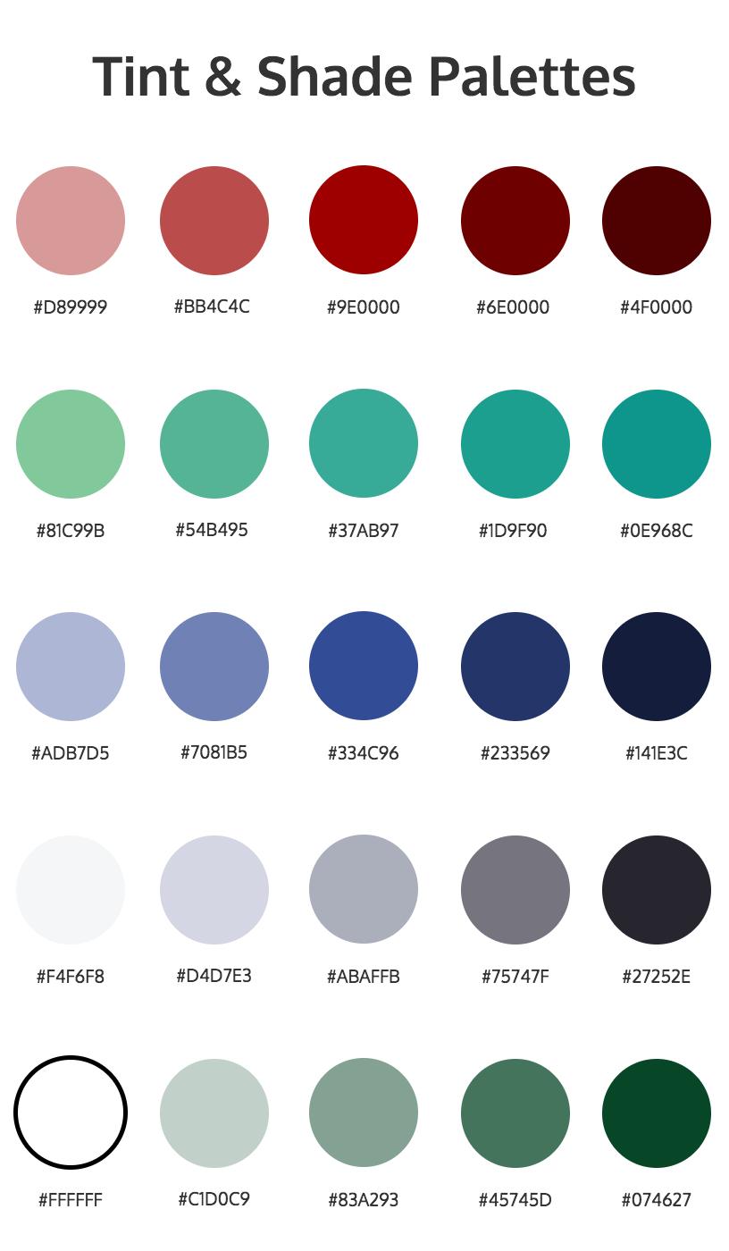 gradient color palettes