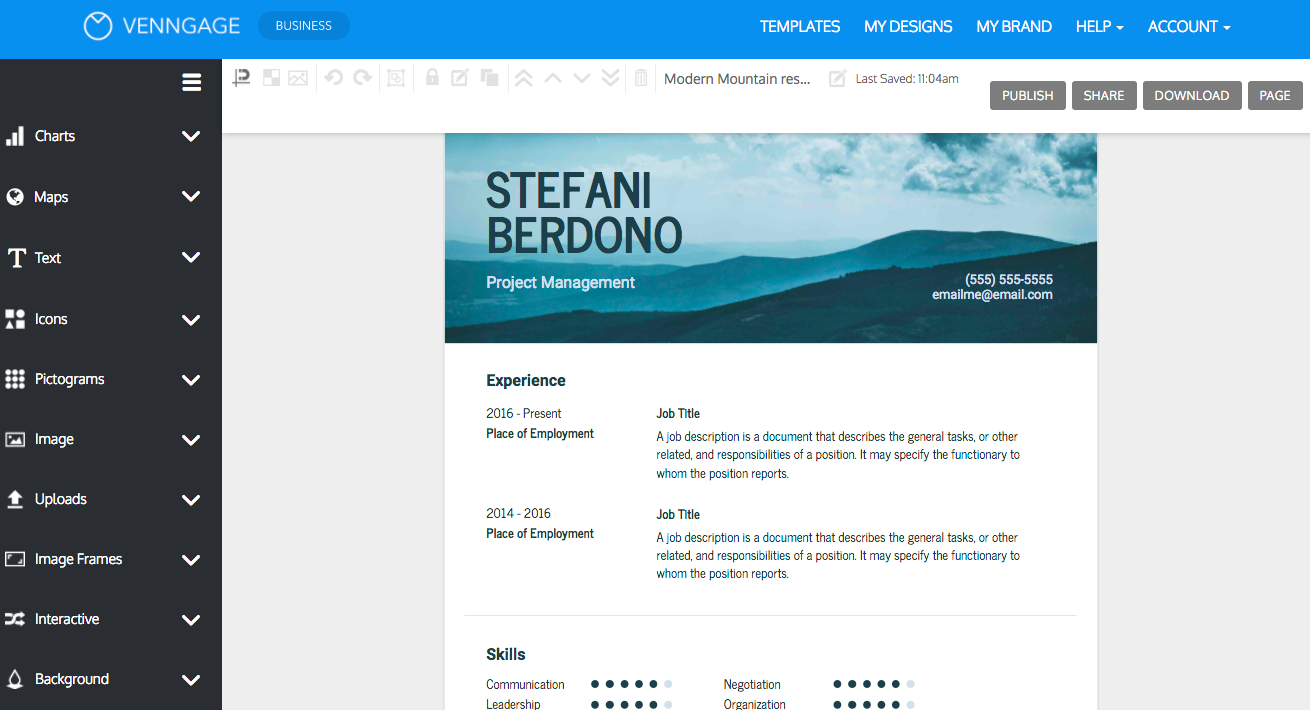 design an impressive resume with venngage the resume maker - How To Make Your Own Resume