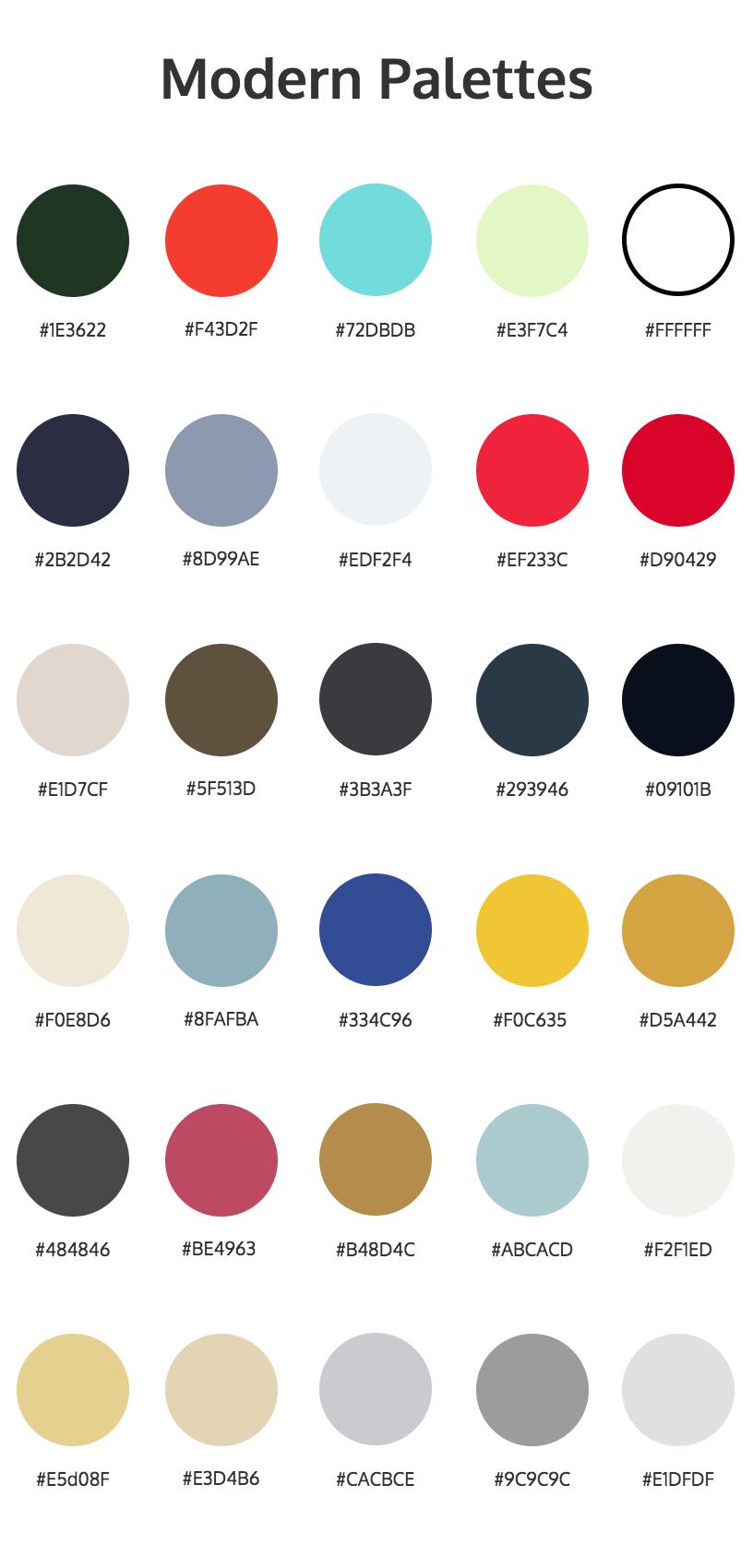 warm color palettes