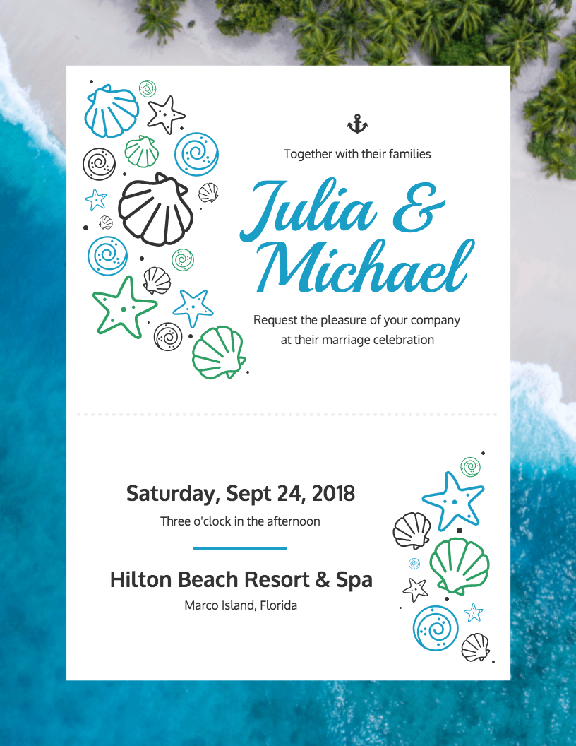 DIY Bridal Shower And Wedding Invitation Templates Venngage - Wedding invitation templates with photo