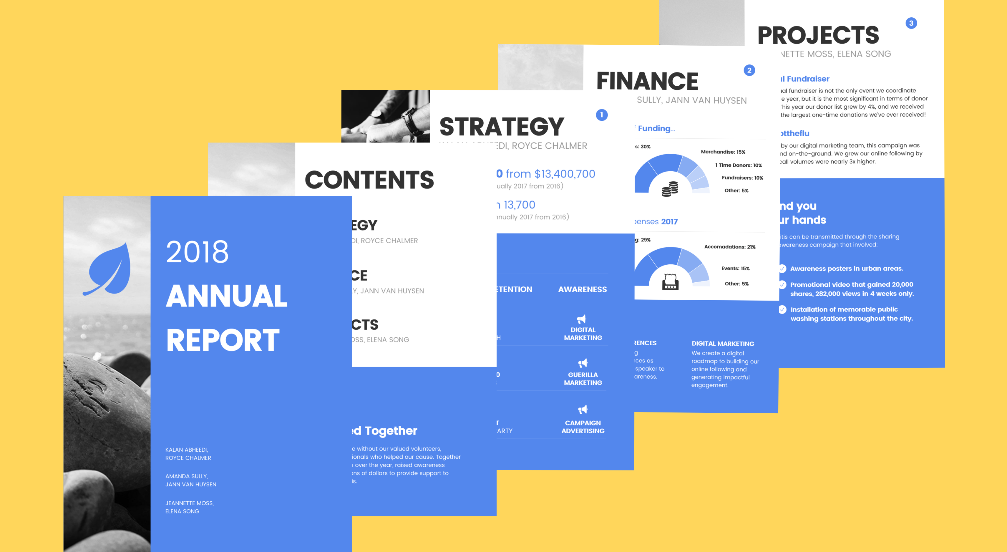 annual report design templates