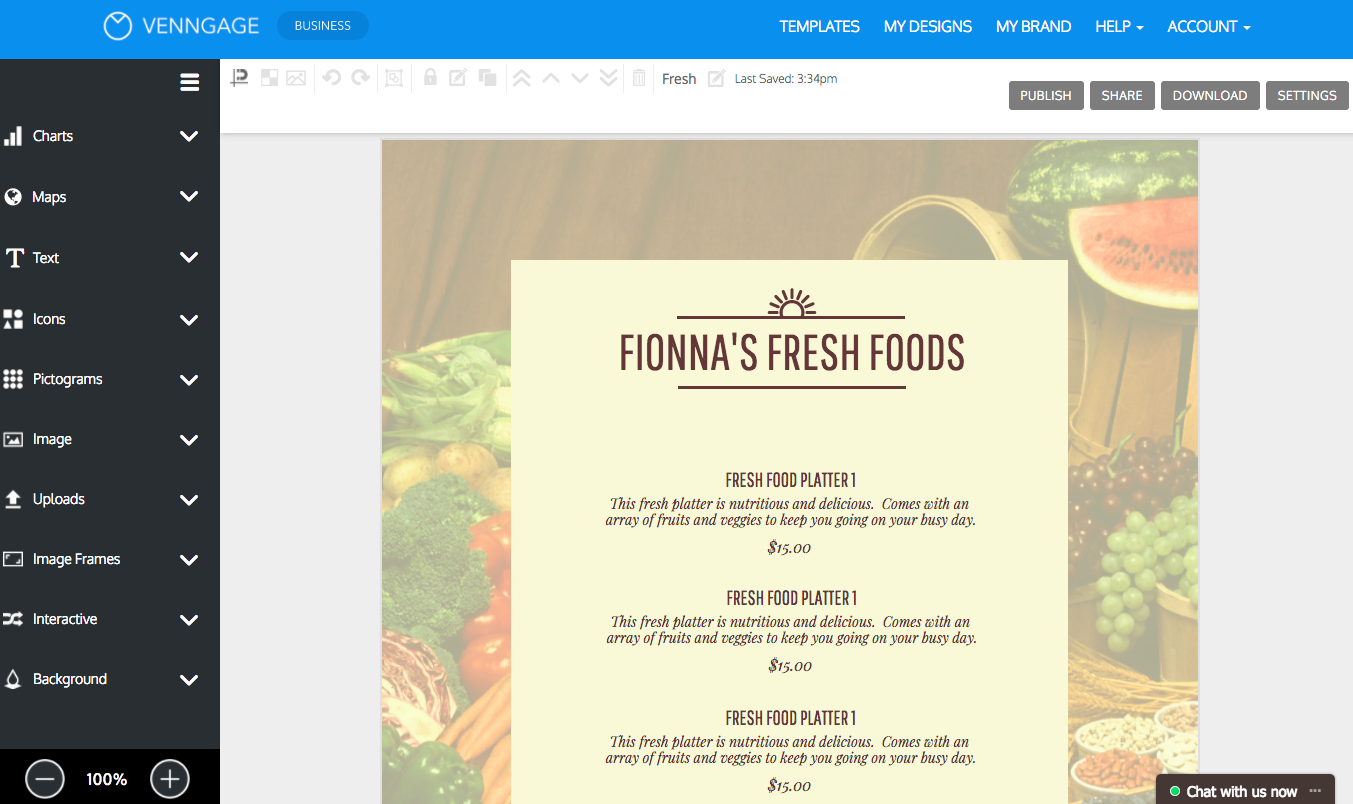 online menu maker make a menu with venngage