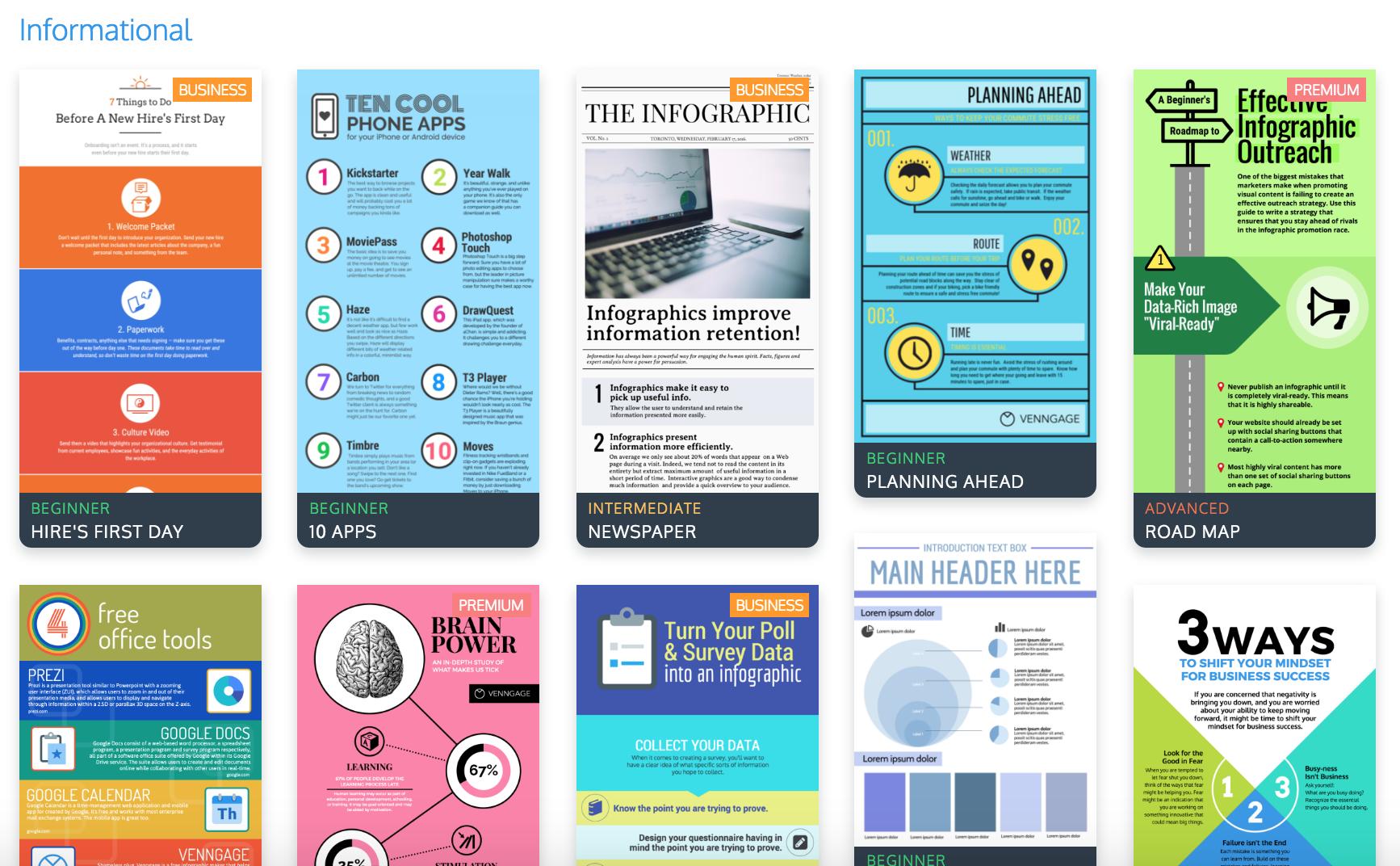 Los 9 mejores tipos de plantillas para infograf a venngage for Table design view definition