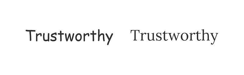 Trustworthy Font Example - How To Pick Fonts