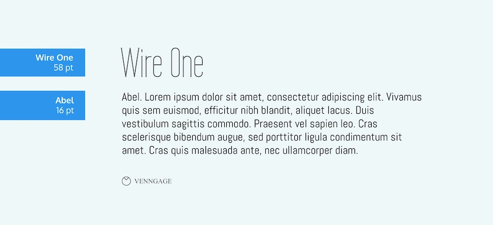 Wire One Font Example - How To Pick Fonts