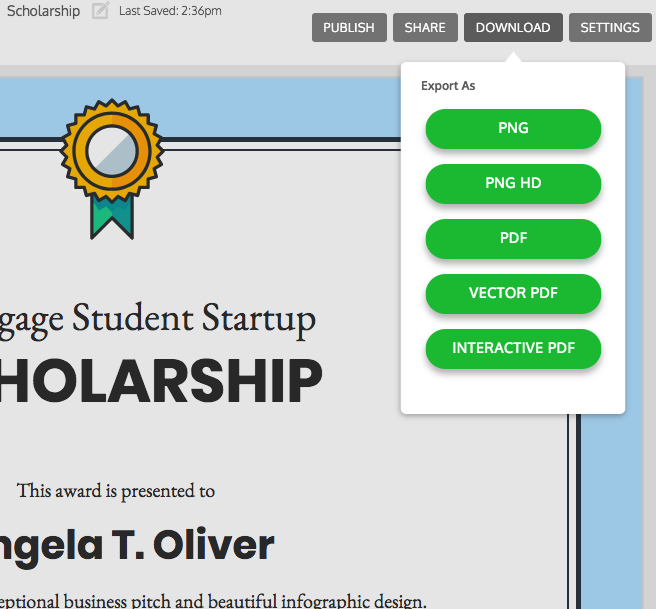 Venngage, the Online Certificate Maker
