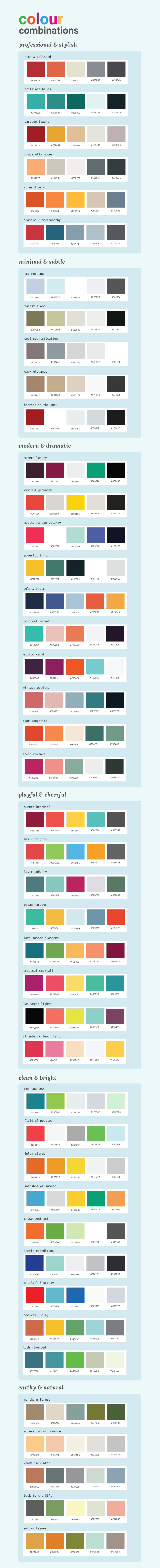 50 Color Palettes Infographic - How To Pick Colors