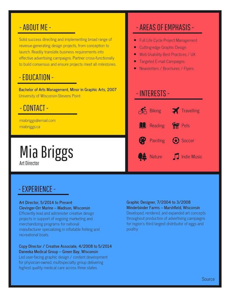 Colorful Modern Resume - How To Pick Colors