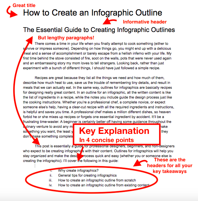 create infographic outline