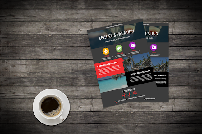 like in the last flyer example you can also use icons to represent different options offered by your business look for a simple icon that illustrates your