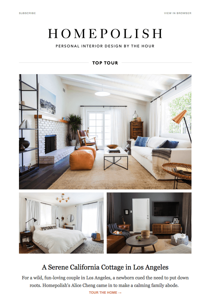 48 Engaging Email Newsletter Templates Design Tips Examples For Classy Interior Design Newsletter