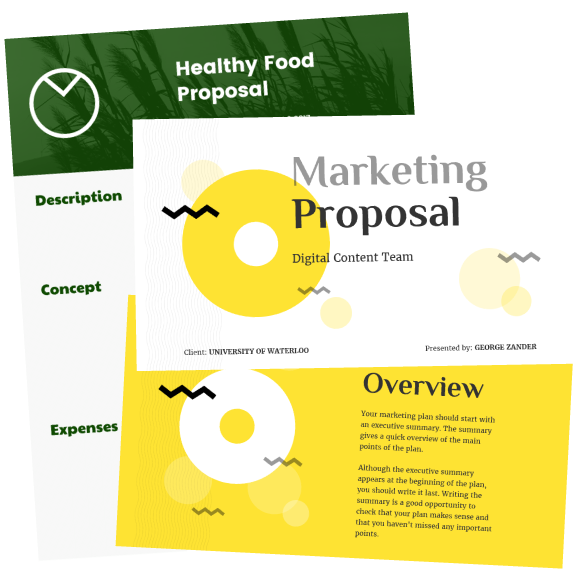 start with one of our customizable proposal templates