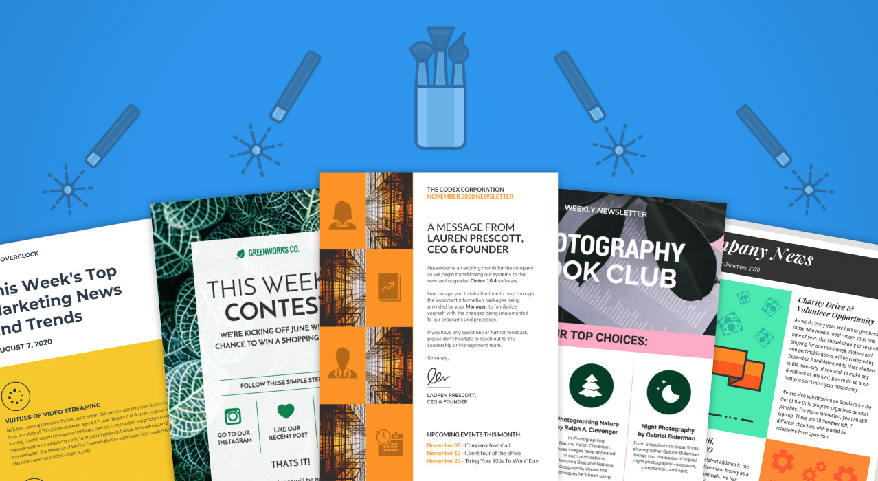 45 engaging email newsletter templates  design tips