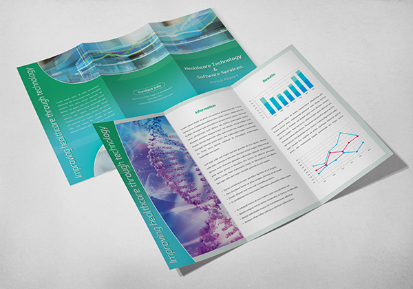 Brochures with data visuals