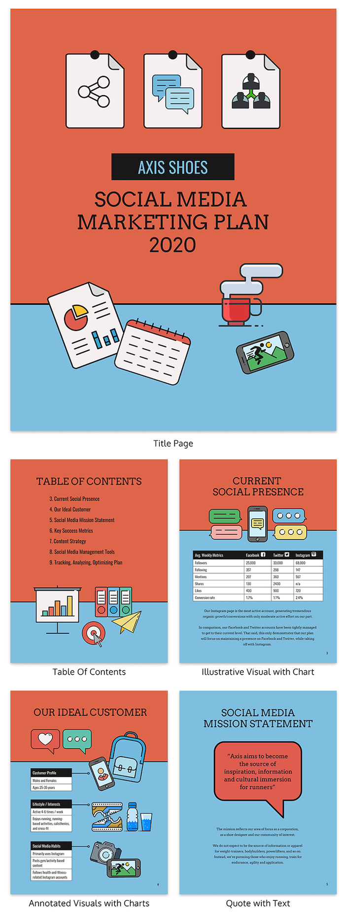 Colorful Social Media Marketing Plan Template